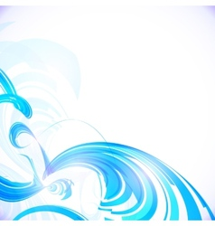 Abstract shining blue background vector image vector image