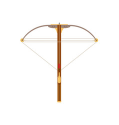 crossbow icon bow arrow isolated weapon white vector image