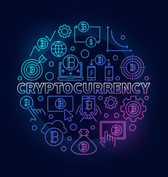cryptocurrency round colorful vector image vector image
