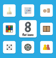 flat icon entertainment set of sea fight dice vector image