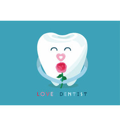 Love dentist from tooth vector image