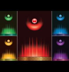 set menu design lights and fire vector image vector image