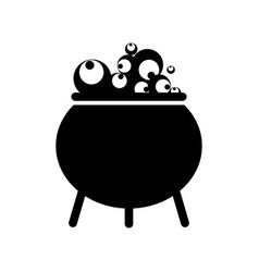 witch black cauldron vector image
