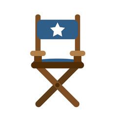director wooden chair vector image vector image