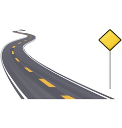 Highway With Sign vector image
