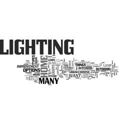 Which lamp should i choose text word cloud concept vector