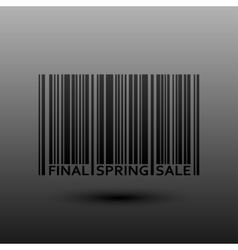 Abstract Barcode Final Spring Sale vector