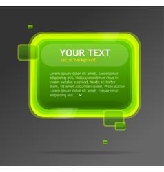 Abstract green speech bubble vector