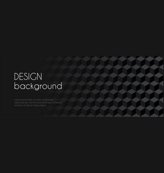 Abstract long black banner for facebook vector