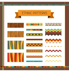African ethnic seamless ornaments and pattern vector image