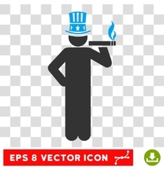 American Capitalist Eps Icon vector