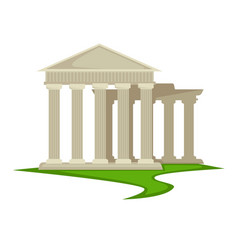 ancient greek pillars greece architecture vector image
