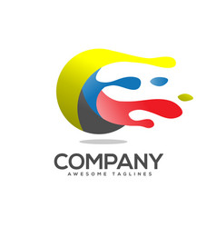 art circle colorful logo vector image