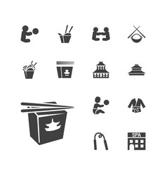 Asian icons vector