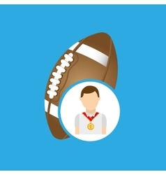 Athlete medal football icon graphic vector