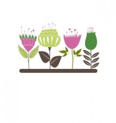 Background with flowers vector illustration vector