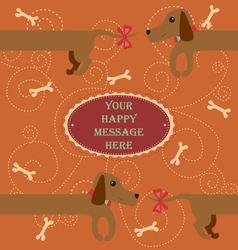 Bagderdog Card vector image