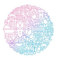 Baline icon circle design vector