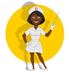 Beautiful nurse vector
