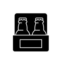 Beer to go black glyph icon vector