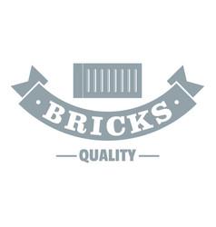 Brick logo gray monochrome style vector