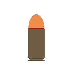 bullet gun isolated military holes metal war vector image