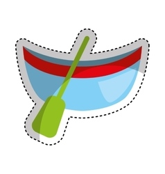 Canoa boat isolated icon vector