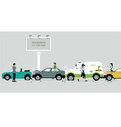 Car crash on the road vector