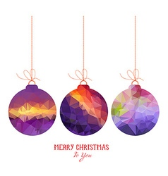 Christmas purple balls abstract isolated on a vector