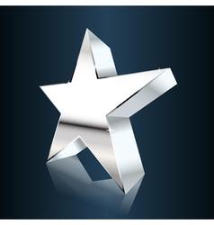 Chrome star vector