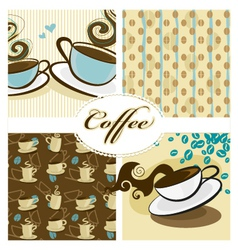 Coffee design set vector