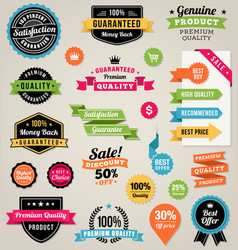 colorful web elements vector image