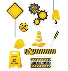 construction elements vector image