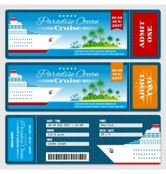 Cruise ship boarding pass ticket Honeymoon vector