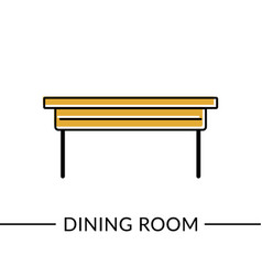 extendable table room line icon vector image