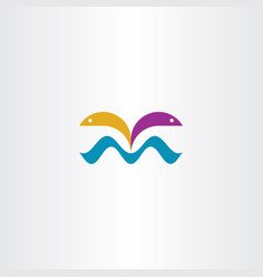 fish jump from water symbol vector image