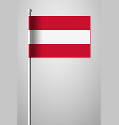 Flag of austria national flag on flagpole vector