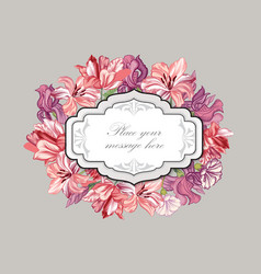 Floral background flower bouquet cover flourish vector