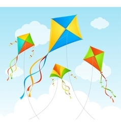 Fly Kite Summer Background vector image