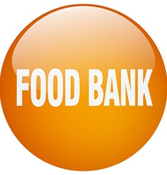 Food bank orange round gel isolated push button vector