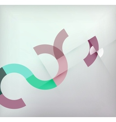 Geometric shapes circles modern background vector