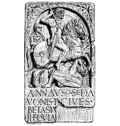 German horseman in roman army vector
