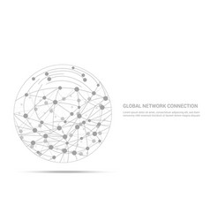 global network connection light concept vector image
