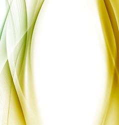 Golden swoosh wave background abstract template vector image