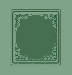 Green vintage frame vector