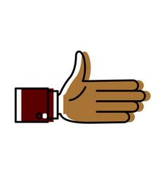 handshake symbol isolated vector image