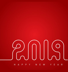 happy new year 2019 and merry christmas cover vector image