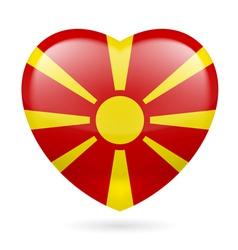 Heart icon of Macedonia vector