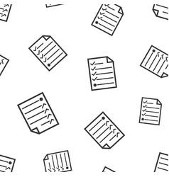 Hecklist seamless pattern business concept vector