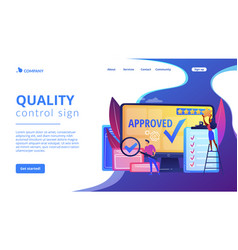 High quality sign concept landing page vector